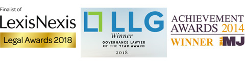 LLG Winner of Governance Lawyer of the year award 2018. Lexis Nexis Legal Awards 2018 Finalist. The MJ Achievement Awards 2014 - Winner.